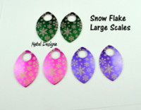 Snow Flake Engraved Anodized Aluminum Large Scales