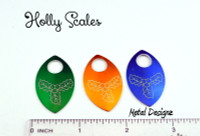 Holly Engraved Anodized Aluminum Large Scales