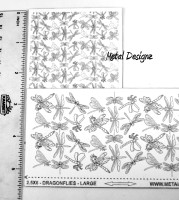 Laser Cut Texture Paper - Dragonflies - Collage