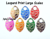 Leopard Skin Print Engraved Anodized Aluminum Large Scales