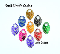 Giraffe Engraved Anodized Aluminum Small Scales - Sold individually