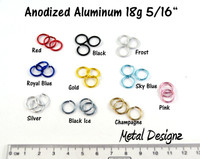 Anodized Aluminum Jump Rings 18 Gauge 5/16""