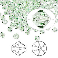Swarovski Crystal, 4mm  bicone (48pk), Chrysolite