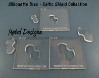 Silhouette Dies - Celtic Shield Collection - 3 dies