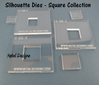 Silhouette Dies - Square Collection - 3 dies