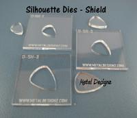 Silhouette Dies - Shield Collection - 3 dies