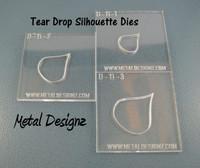 Silhouette Dies - Tear Drop Collection - 3 dies