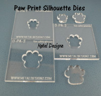 Silhouette Dies - Paws Collection - 3 dies
