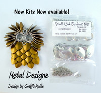 Small Owl Kit - GriffinMaille Kit - No Tutorial - One Pendant & Chain
