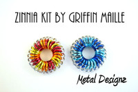 Zinnia Flower Pendant - GriffinMaille Kit - No Tutorial included