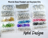 Moorish Rose Kit- Pendant or Keychain - No Tutorial - To accompany Lisa Ellis's Video Tutorial