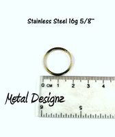 "Stainless Steel Jump Rings 16 Gauge 5/8"" id."