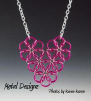 Borealis Heart Necklace Kit - Karen Karon - Kit Only - No Tutorial Included