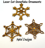 Christmas Snowflake Ornaments - Sold in a set of 3