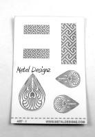 Laser Cut Texture Paper - Project Sheets - Art 1