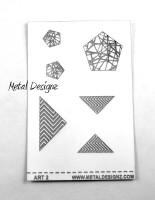Laser Cut Texture Paper - Project Sheets - Art 2