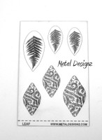 Laser Cut Texture Paper - Project Sheets - Leaf