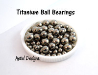 Titanium Ball Bearings - Plain color with mirror finish -Packs of 10