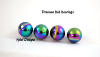 Anodized Titanium Ball Bearings -Packs of 10