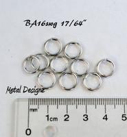 """Bright Aluminum Jump Rings 16 Gauge 17/64"""" id."""