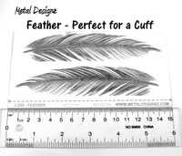 Laser Cut Texture Paper - Feather