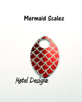 Mermaid Scale Engraved Anodized Aluminum Large Scales