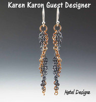Long Trinity Twist Earring Kits - Karen Karon - Kit Only - No Tutorial Included