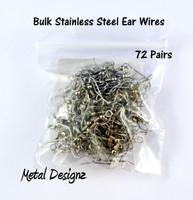 Stainless Steel Ear Wires - Bulk Bag - 72 Pair
