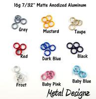 "Anodized Aluminum Jump Rings 16 Gauge 7/32"" - Matte"