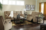 Tulen Mocha Reclining Sofa, Loveseat & Rocker Recliner