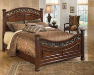 Leahlyn Warm Brown Queen Panel Bed