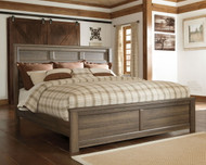 Juararo Dark Brown King Panel Bed