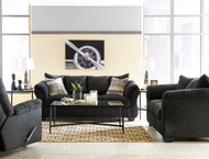 Darcy Black Sofa, Loveseat & Rocker Recliner