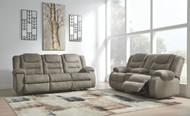 Segburg Cobblestone REC Sofa & DBL REC Loveseat with Console