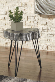 Dellman Antique Silver Finish Accent Table