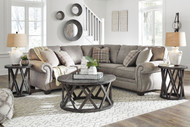 Olsberg Steel LAF Sofa with Corner Wedge & RAF Loveseat Sectional