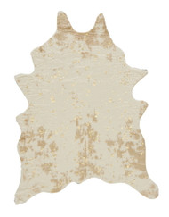 Jaxith Ivory/Brown Medium Rug
