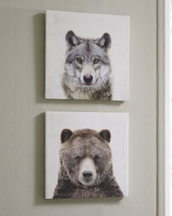 Albert Gray/Brown Wall Art Set
