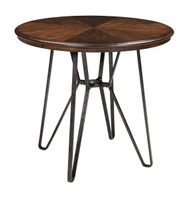 Centiar Two-tone Brown Round Dining Room Counter Table