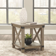 Aldwin Gray Rectangular End Table