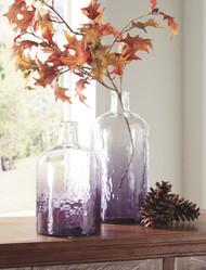 Maleah Purple Vase Set