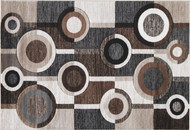 Guintte Black/Brown/Cream Large Rug