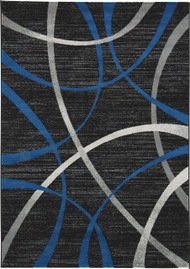 Jenue Black/Gray/Blue Large Rug