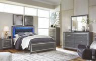 Lodanna Gray 6 Pc. Dresser, Mirror, Chest & Queen Panel Bed