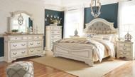 Realyn Two-tone 7 Pc. Dresser, Mirror, Queen UPH Panel Bed & 2 Nightstands