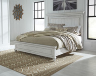 Kanwyn Whitewash Queen Panel Bed