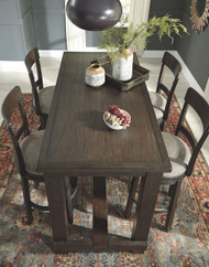 Drewing Brown 5 Pc. RECT Bar Table & 4 UPH Swivel Barstools