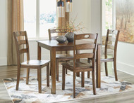 Hazelteen Medium Brown Square Table Set (5/CN)
