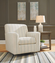 Alandari Gray Swivel Glider Accent Chair
