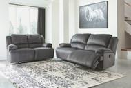 Clonmel Charcoal 2 Seat Reclining Sofa & Reclining Loveseat